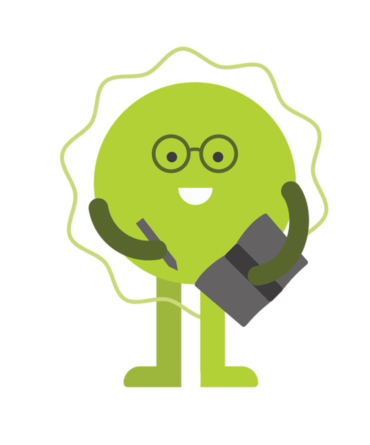Image of a green happy time management aura